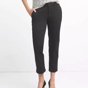 Gap Slim City Crop Pants 6 Black v549
